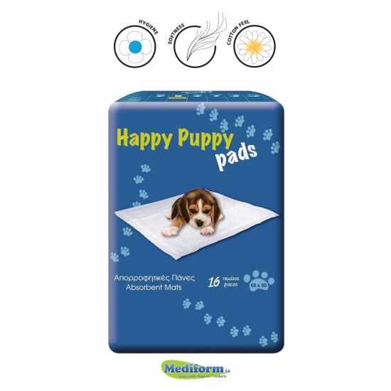 Happy Puppy Υποσέντονα Για Σκύλους  60Χ90 16 Τεμάχια