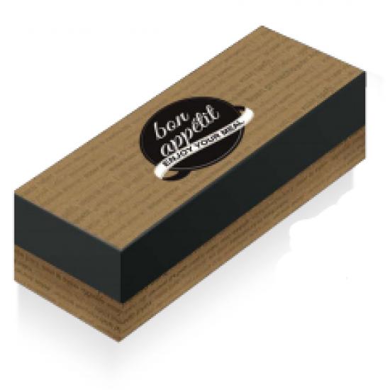 Κουτί ψητοπωλείου Bon Apetit 10kg Διπλή Πατάτα 16Χ13.5Χ6cm (200τμχ)