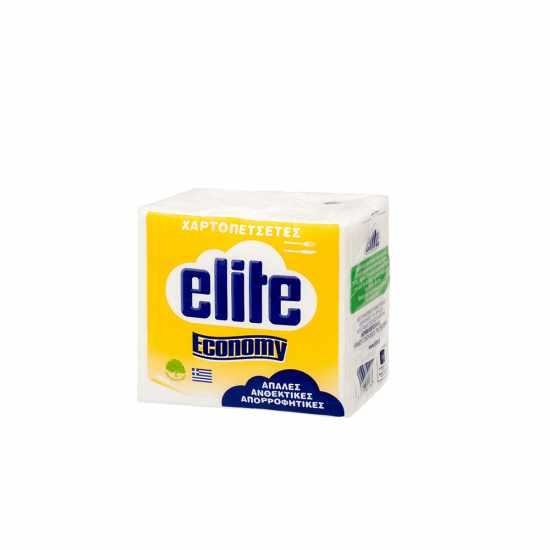 Elite Χαρτοπετσέτες 28Χ30cm λευκές  53Φ Economy