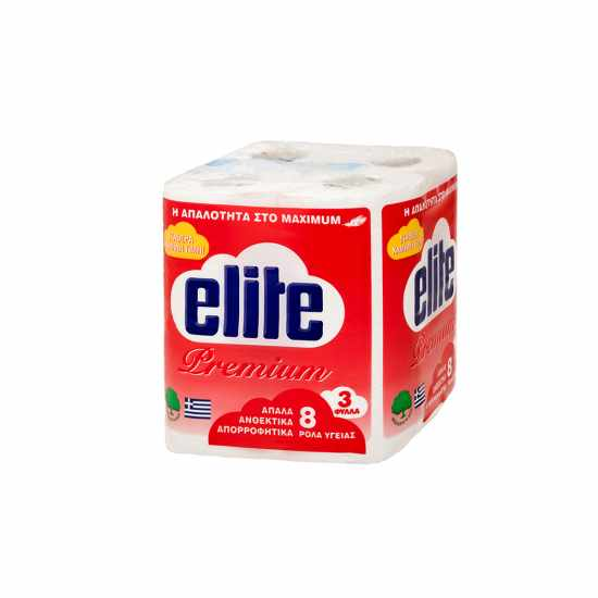 Elite Χαρτί Υγείας 8 ρολά 75 gr 3Φυλλα