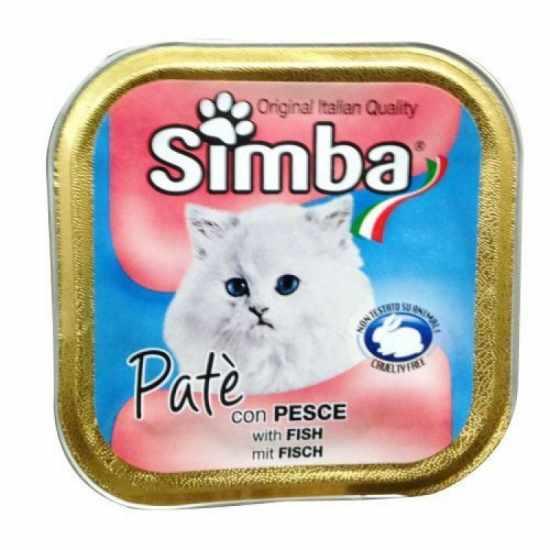 Simba Κονσέρβα Γάτας Πατέ 100gr Ψάρι