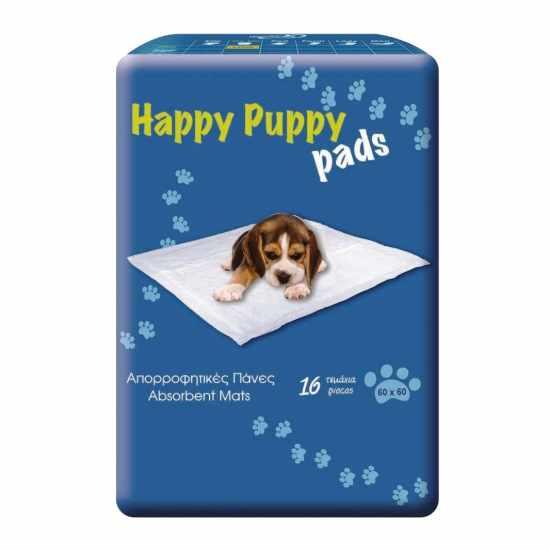 Happy Puppy Υποσέντονα Για Σκύλους  60Χ60 16 Τεμάχια