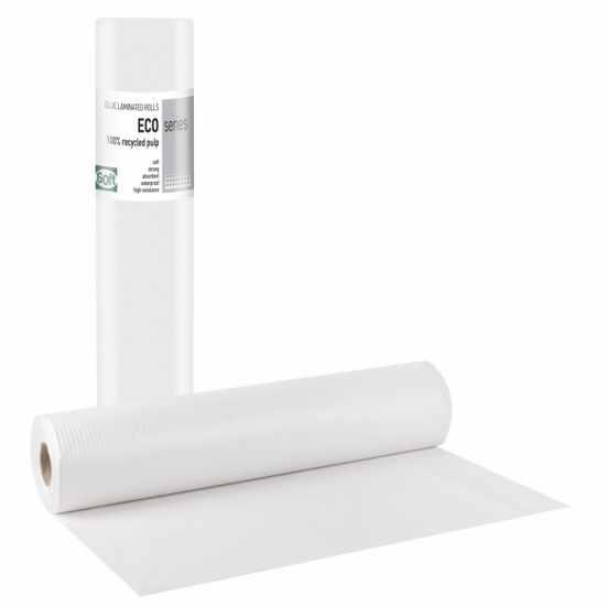 Εξεταστικά Ιατρικά Ρολά ECO Πλαστικό + Χαρτί 1-1 (12 ΤΕΜ)  50cm x 50m Λευκό